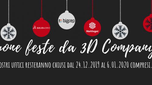 Chiusura natalizia uffici 3D Company