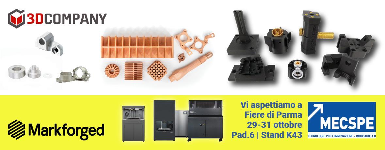 Stampanti 3D Industriali di Markforged con 3D Company